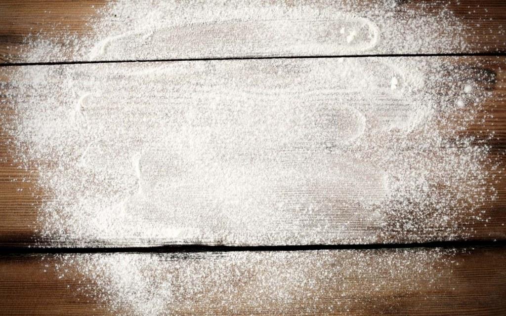 Flour on Wood