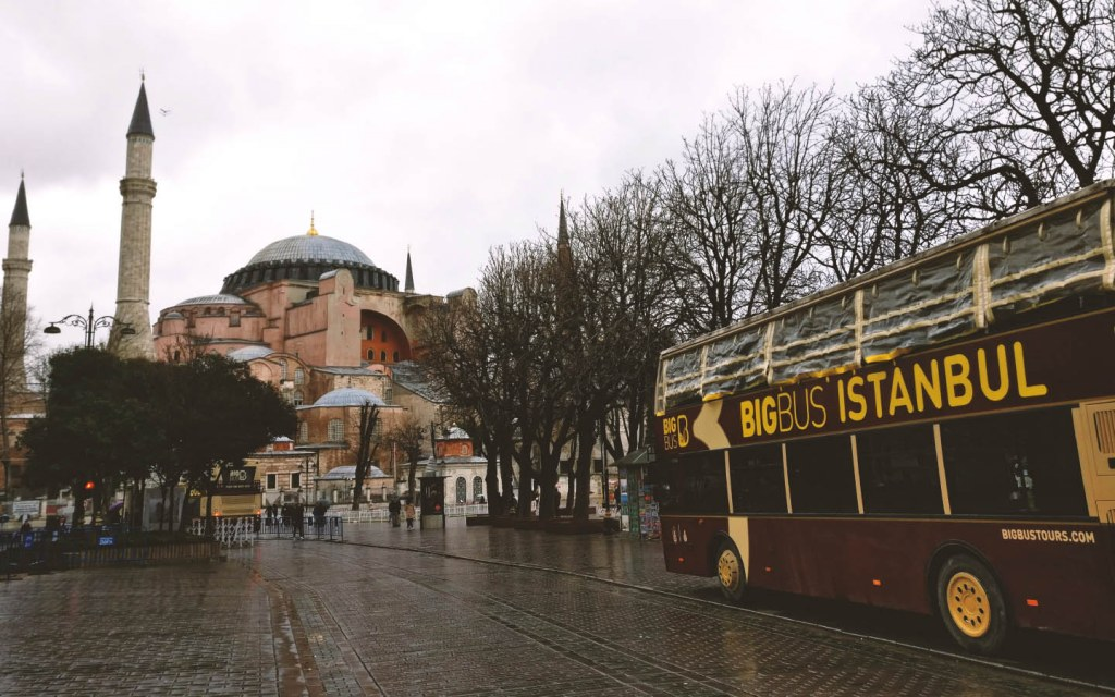A street view of a Istanbul Turkey