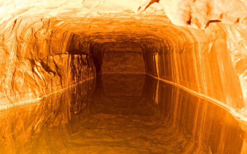 Salt Water Pond inside Khewra Mines