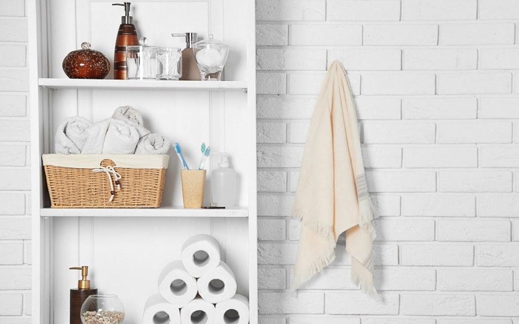 Modern bathroom in white colour
