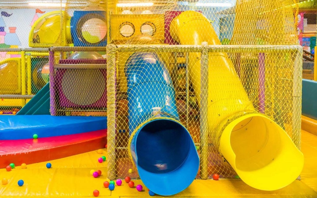 Playground in indoor amusement park for kids