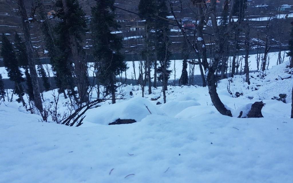 Snow-Covered Arangkel in Neelum Valley, AJK