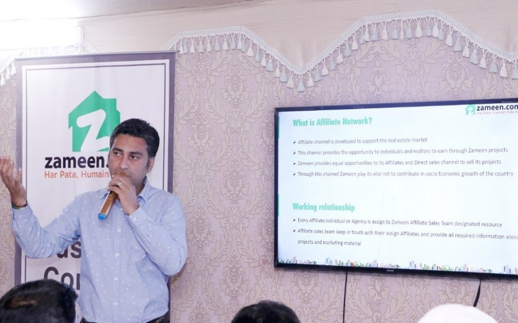 Agha Sultan briefing about the Affiliates Network