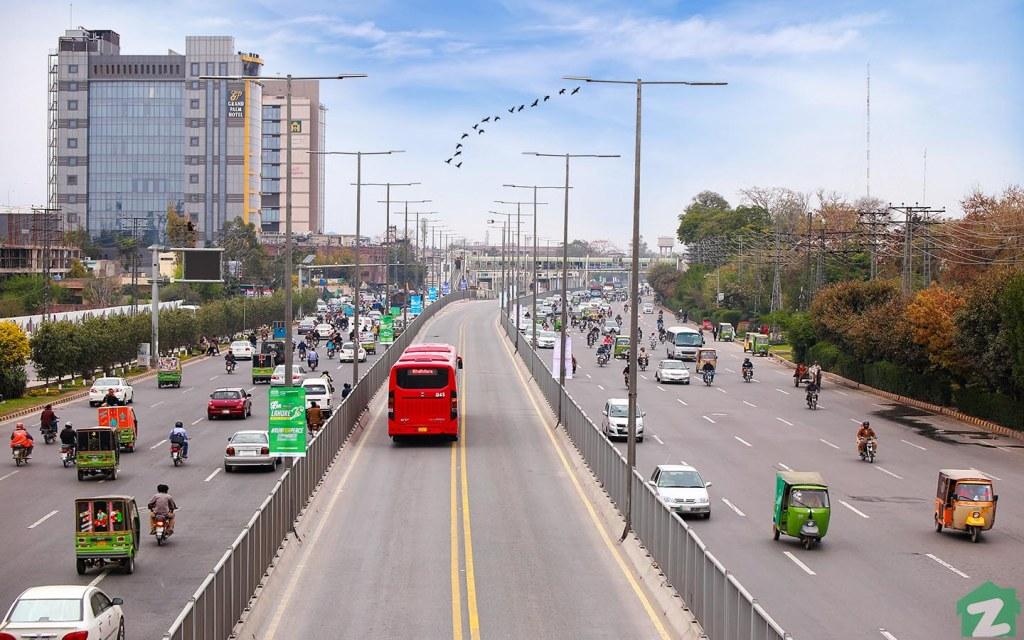 The Lahore Metrobus System is built parallel to Ferozepur Road