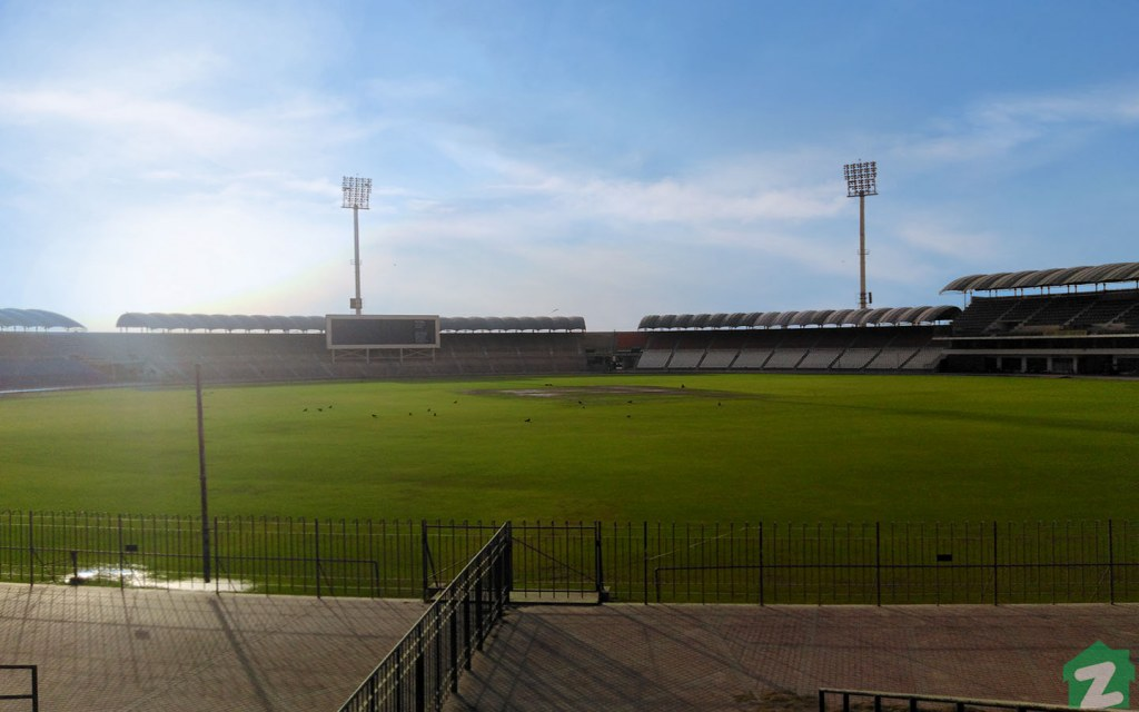 Multan Cricket Stadium is ideal for both day and night matches due to the installation of floodlights