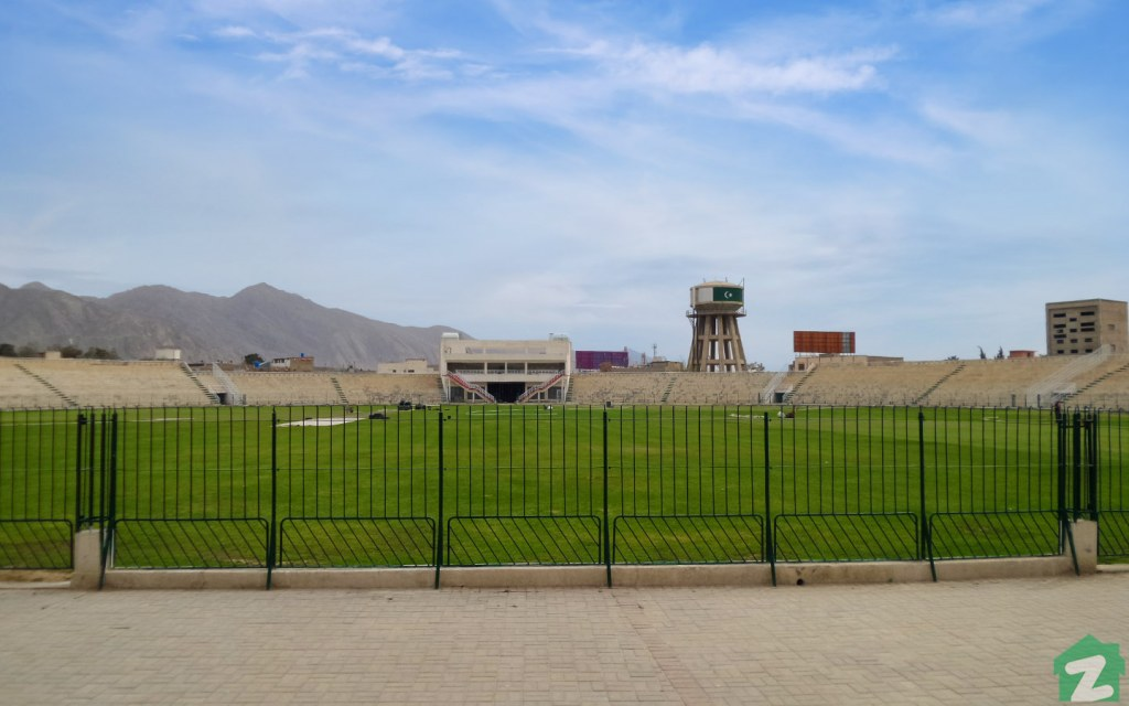 Around 10,000 spectators can comfortably watch a match at Bugti Stadium in Quetta