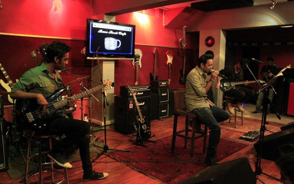 Base Rock Cafe live music restaurant in Karachi