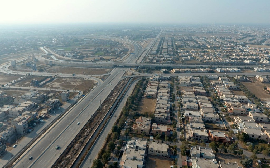 view of ring road from top
