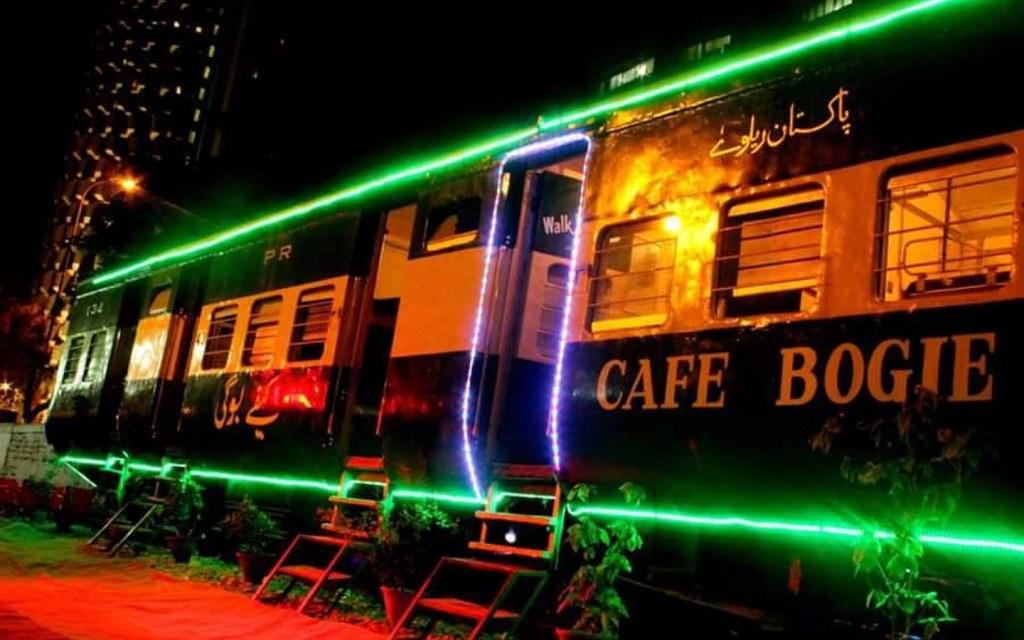 Cafe Bogie is a famous theme restaurant in Karachi