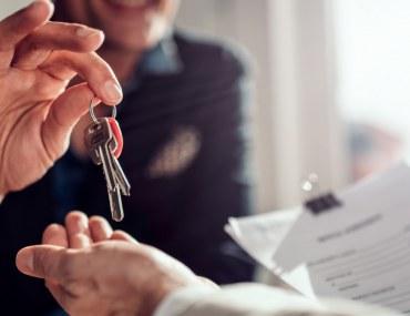 Handing Key to Landlord