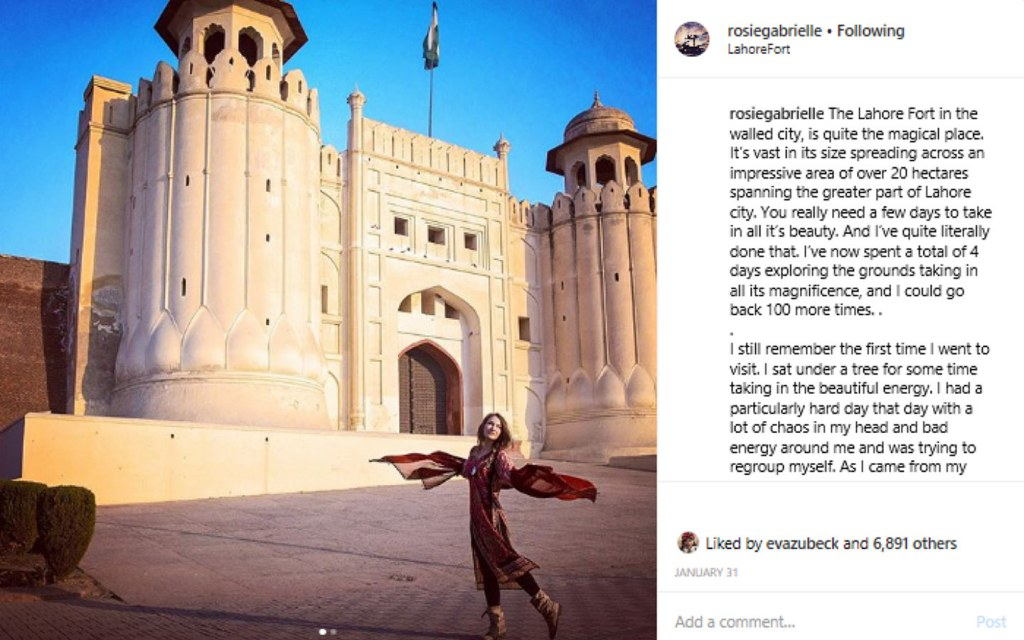 Foreign tourist Rosie Gabrielle is in love with Pakistan