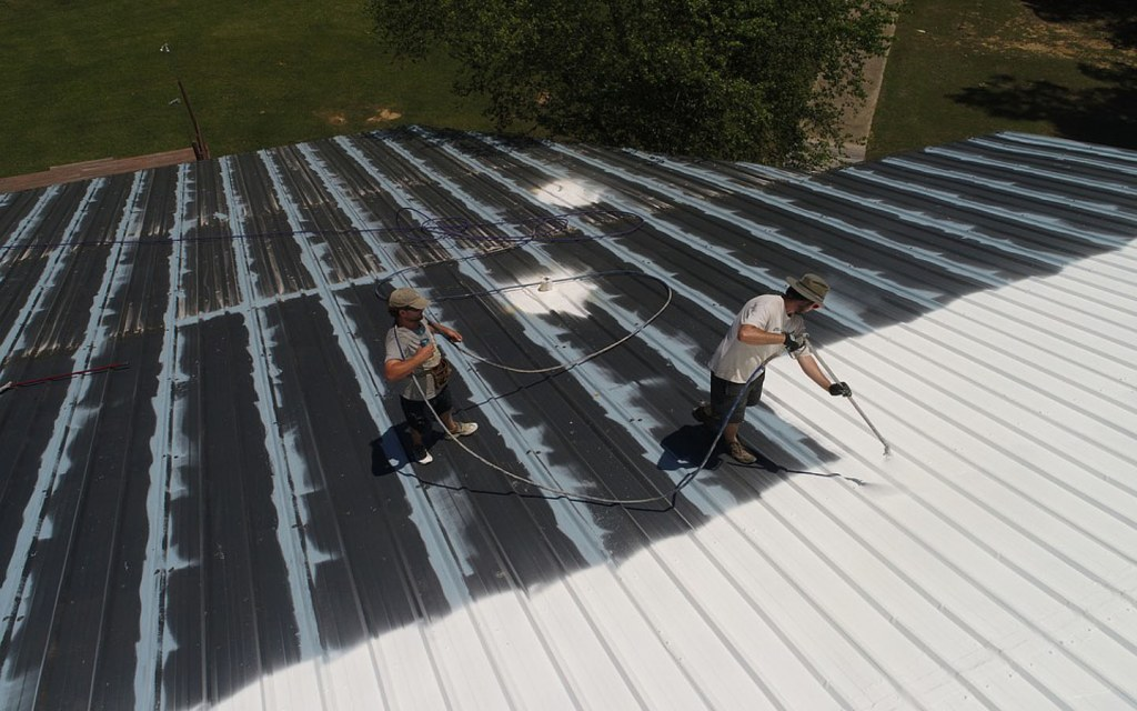 Keep your roof cool by coating it with white paint