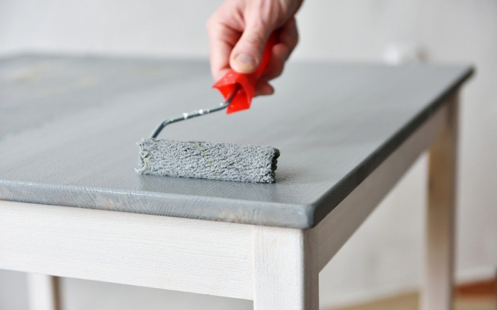 Painting furniture can be a DIY home decorating tip for renters