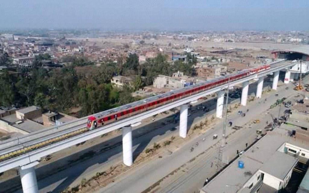 The Orange Line Metro will be Pakistan's first Metro train
