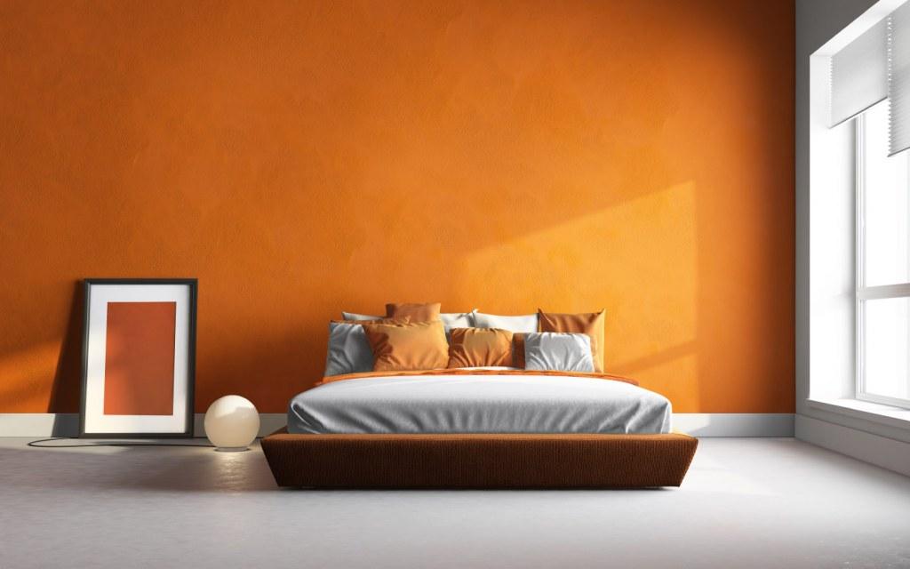 Orange Bedroom Colour