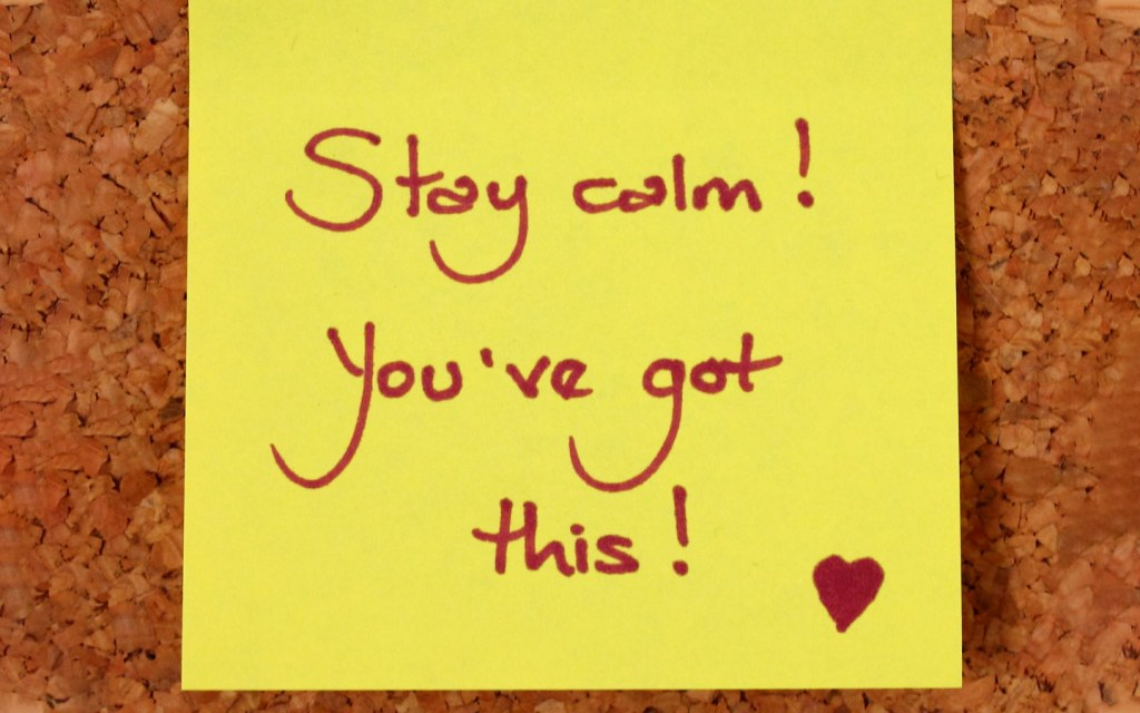 Stay Calm Post-It