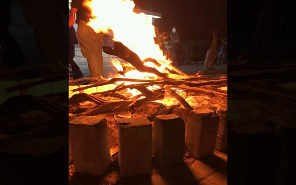 Gorakh hill station bonfire
