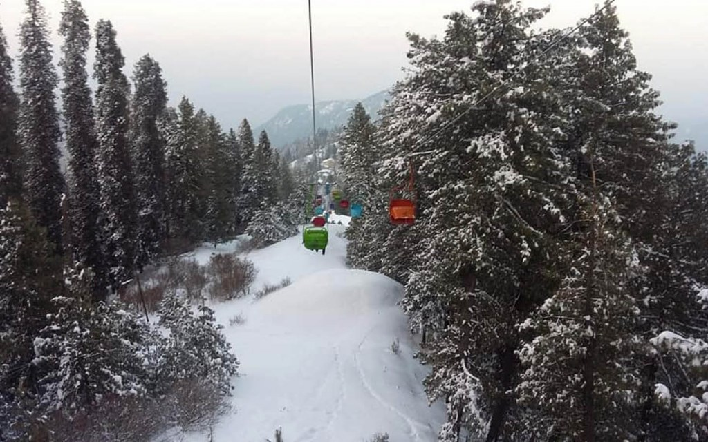 Ayubia Chairlift travels 1.5 kilometres amidst pine forests