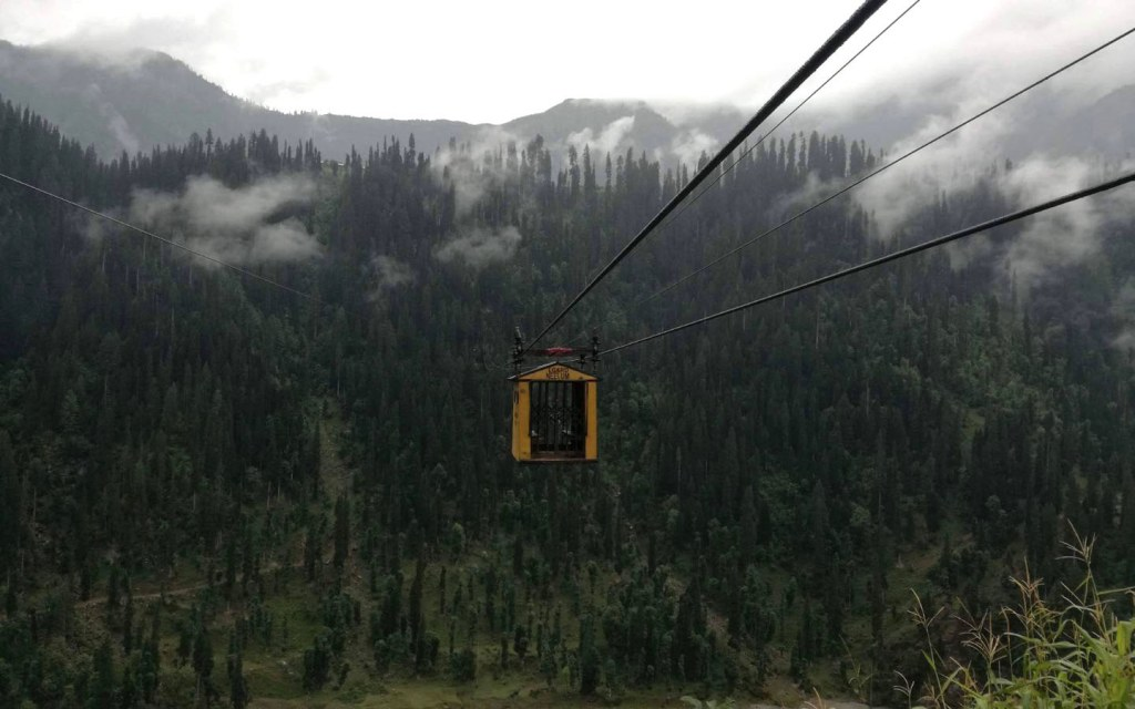 The Arang Kel Chairlift is Different from the Rest as It is Enclosed like a Cable Car