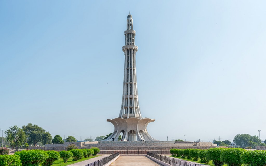 The Pakistan Resolution was signed at the Minar-e-Pakistan in 1940