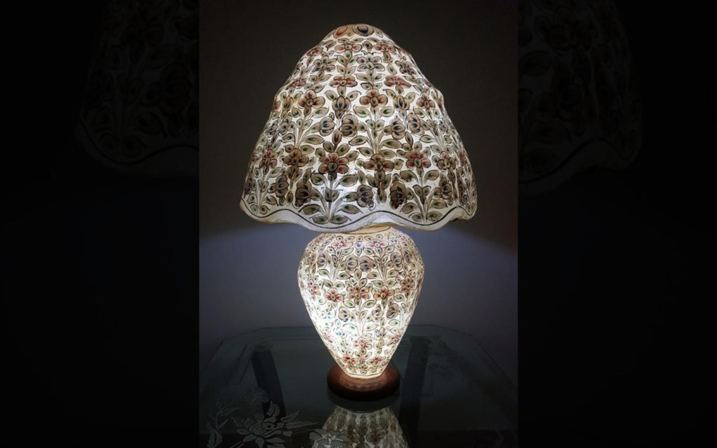 Camel Lamp is one of the handicrafts of Pakistan Prepared from Camel Hides