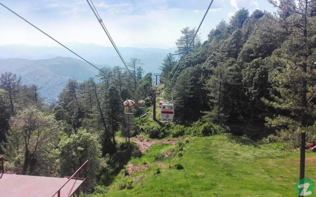 Pindi Point and its chairlift are popular tourist spots in the Murree Hills