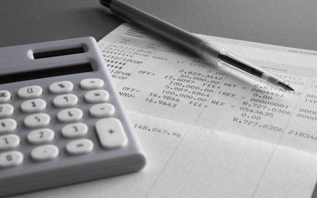 Savings account bank statement