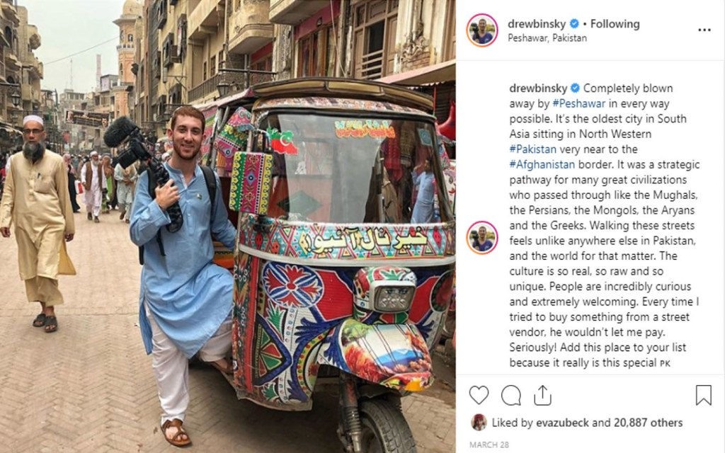 Drew binsky loved the culture of Paksitan and its amazing people