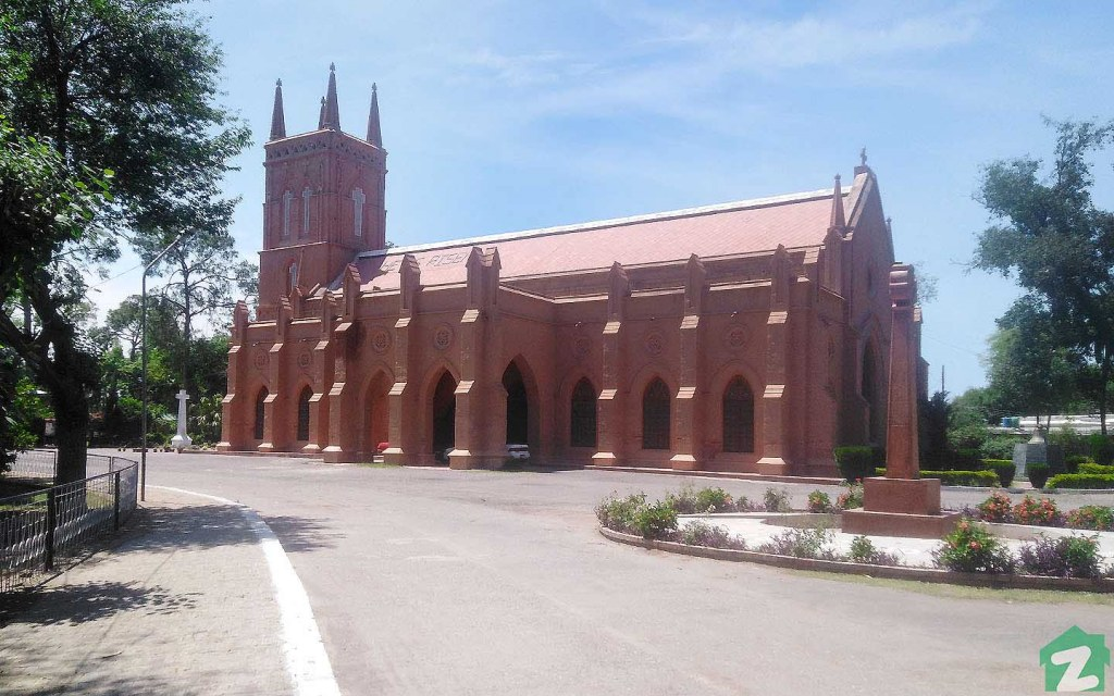 St. John's Cathedral in Peshawar was constructed between 1851 and 1860