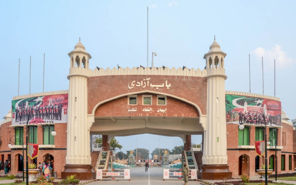 A military display is performed every evening at the Wagah Border