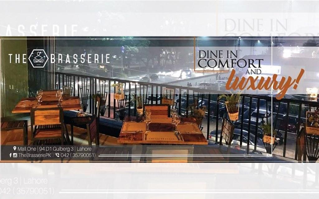 The Brasserie restaurant in Gulberg