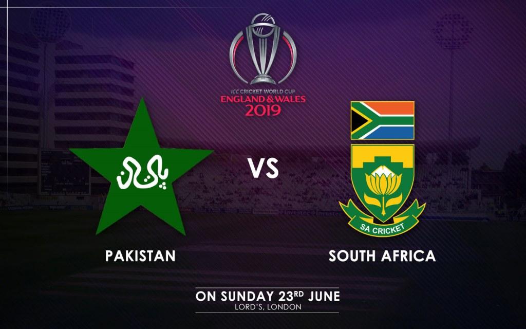 Pakistan vs. South Africa Match Schedule