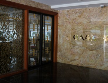 The entrance to Casa Reina in Gulberg, Lahore