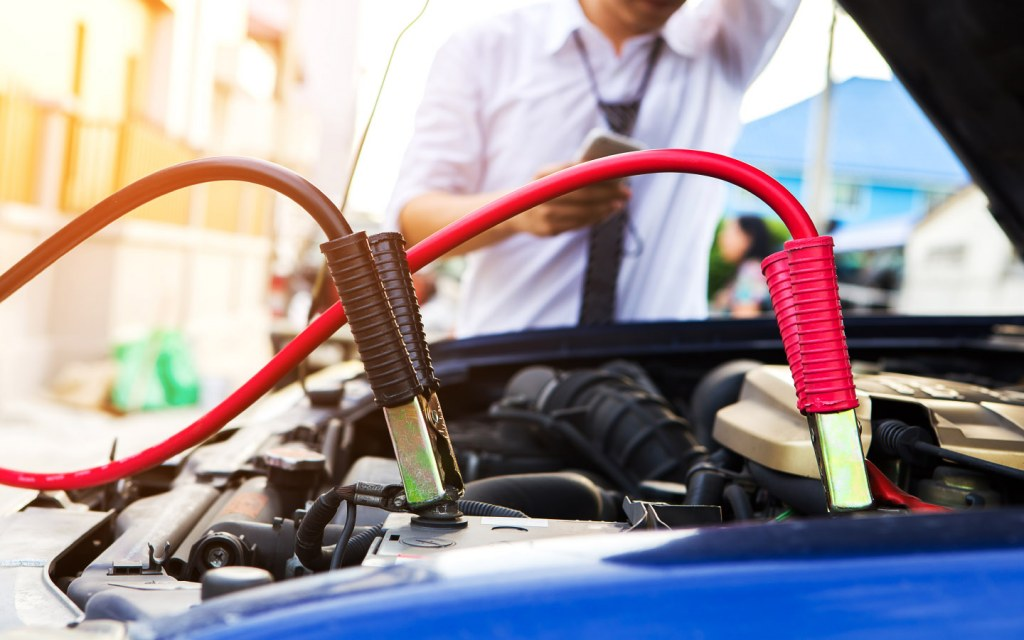 Jumper cables can help you start your car's ignition to get you to the nearest mechanic