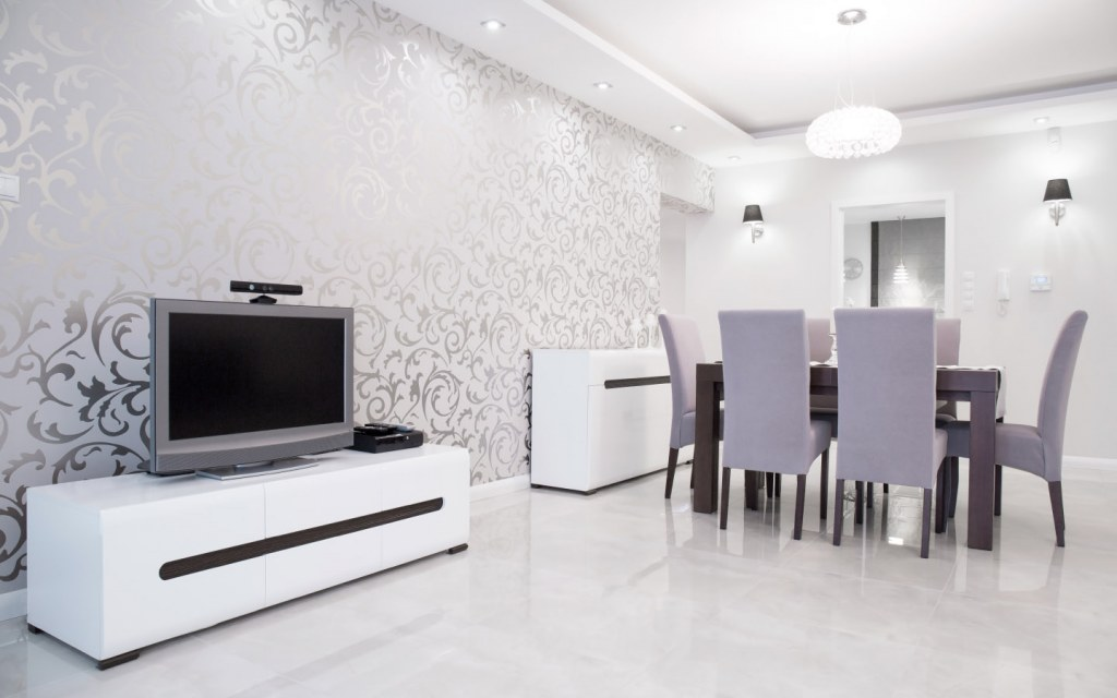 Adding wallpaper to your central living space will change the ambiance of your home