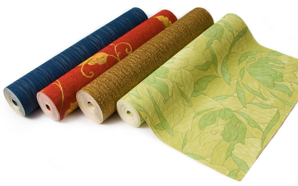 Wallpaper is generally available in large rolls of varying colours and designs