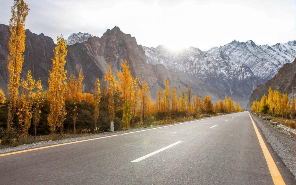 Natural views on the Karakoram Highway
