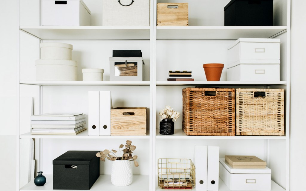 Filing cabinets or shelves can help you organise your official records and supplies
