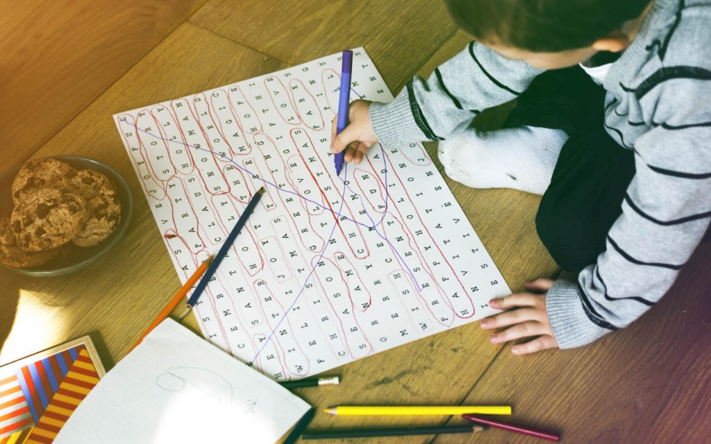 Get new words introduced to your child's vocabulary with word search
