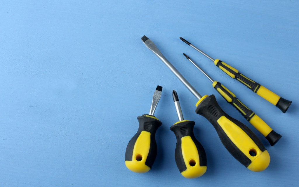 Long and short-handled screwdrivers can both be useful for car repairs