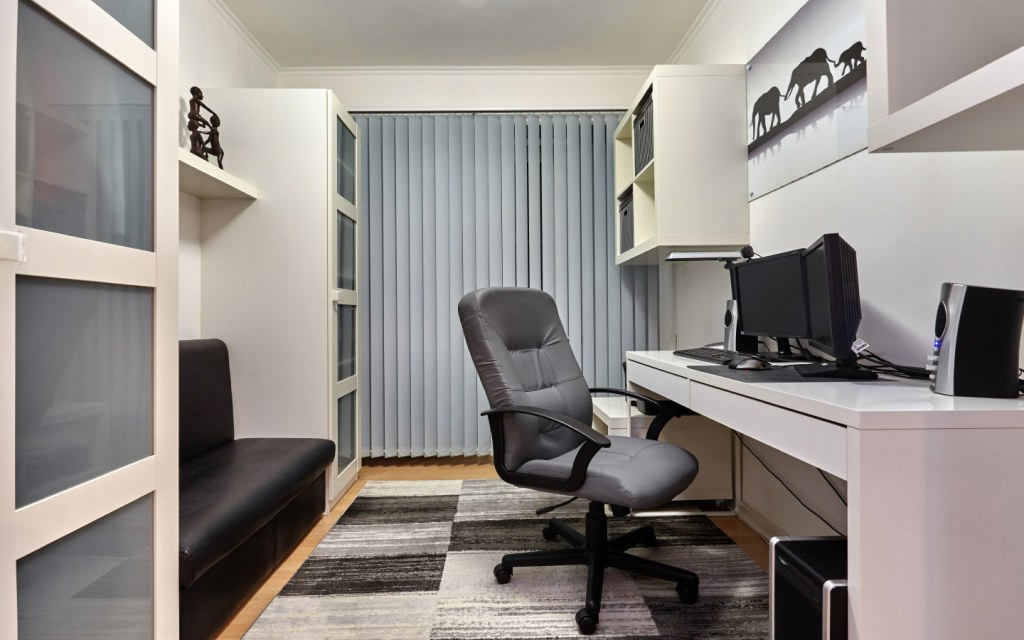 Ideally, choose a small spare room as your home office