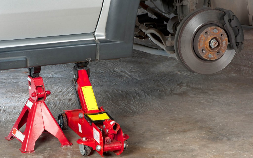 You will probably need a car jack to replace a flat tire