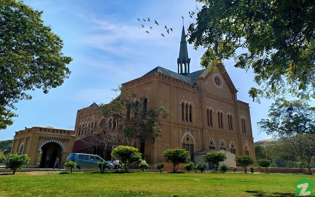 visiting Frere Hall in Saddar Town