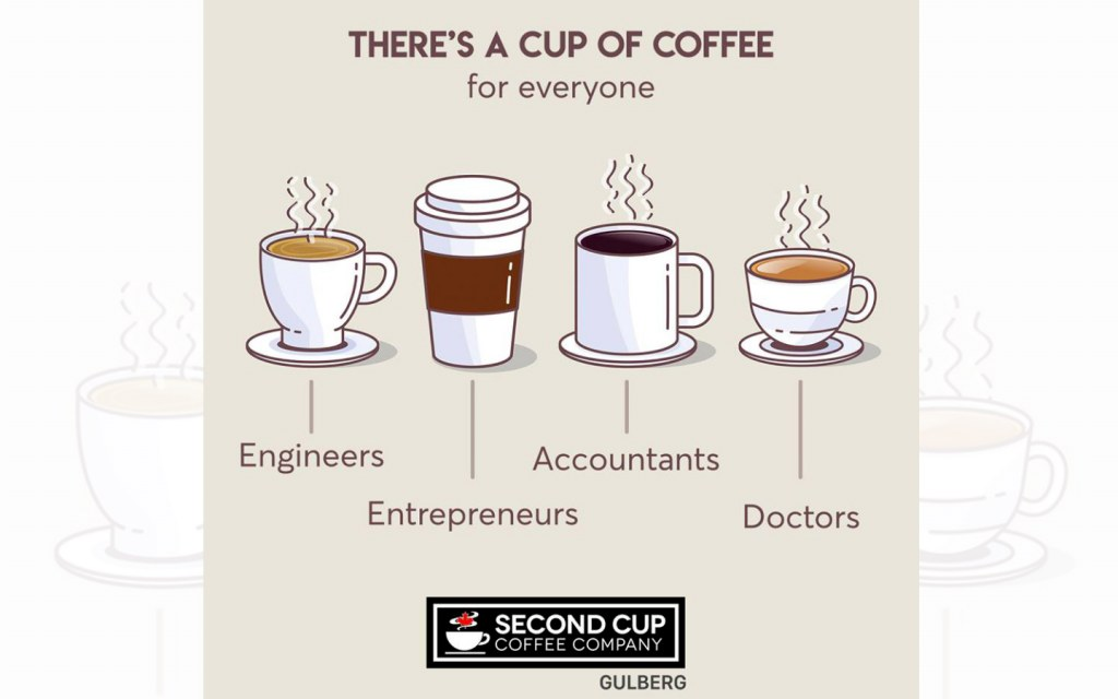 second cup is a great restaurant to enjoy both coffee and work