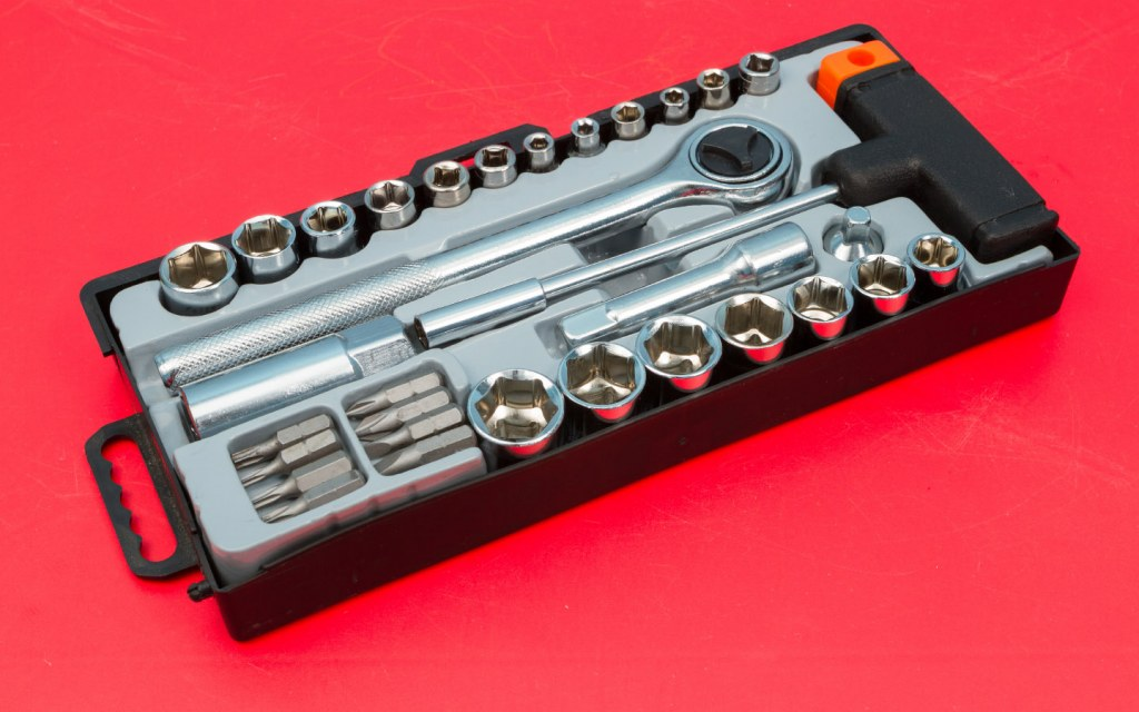 Get a socket set that comes with its own ratchet