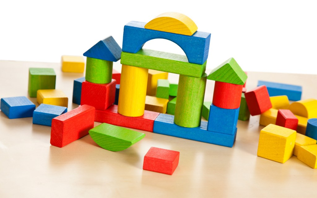Building blocks are available in both wooden and plastic varieties depending on the age of your child