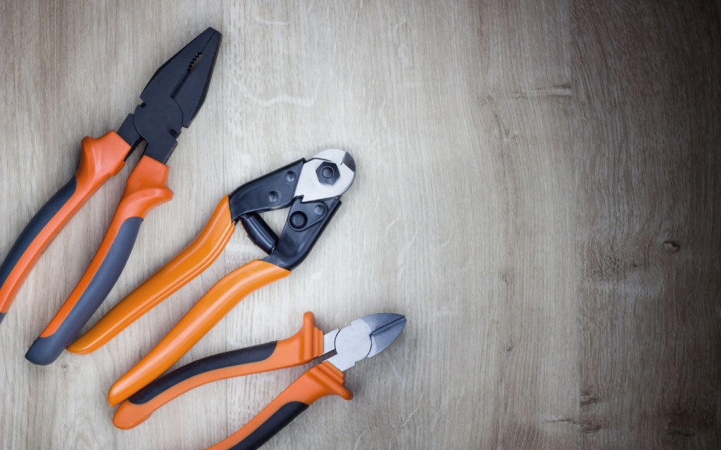Buy different types of pliers and wire cutters or get them all in one with Combination pliers