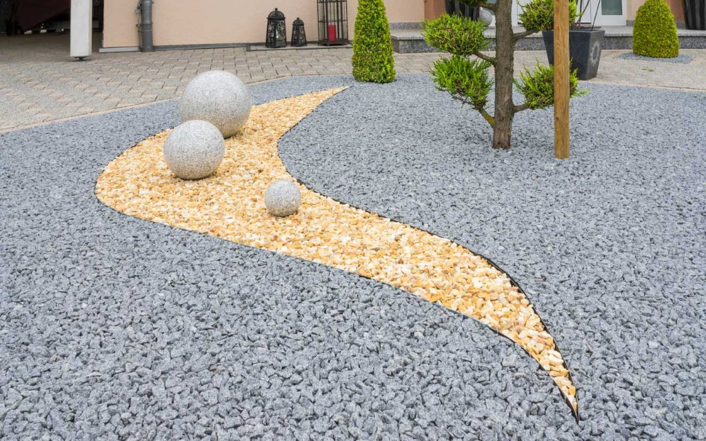 Rock garden is cost effective and requires low upkeep