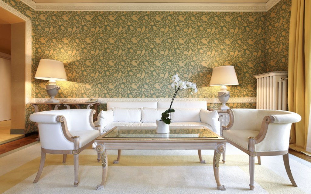 Living rooms and dining rooms are best for wallpapers