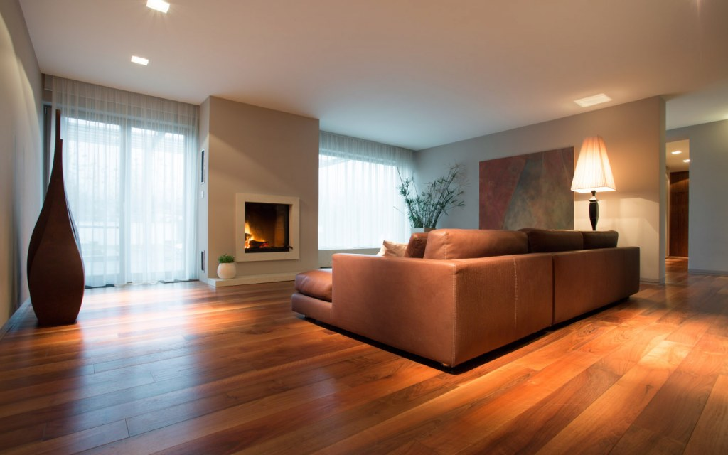 Wooden flooring requires less maintenance